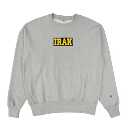 IRAK Logo Crewneck - Oxford Heather Grey