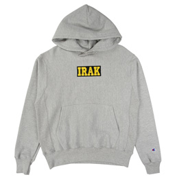 IRAK Logo Hoody - Oxford Heather Grey