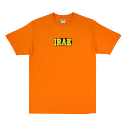 IRAK Box Logo T-Shirt - Orange