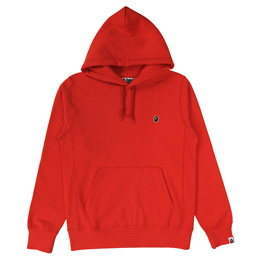 BAPE One Point Pullover Hoodie - Red