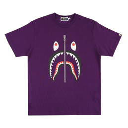 BAPE® Shark Heavyweight T-Shirt- Purple