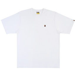 BAPE® Ape Head One Point Relax T-Shirt- White