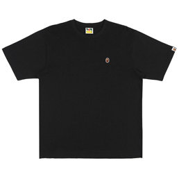 BAPE® Ape Head One Point Relax T-Shirt- Black