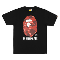 BAPE® Color Camo By Bape T-Shirt- Black/Red