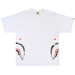 BAPE® City Camo Side Shark Relax T-Shirt- White