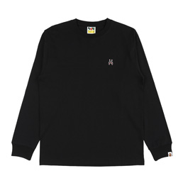 BAPE® Shark One Point L/S T-Shirt- Black