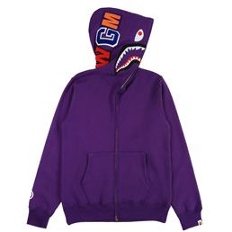 BAPE® Shark Full Zip Hoodie- Purple