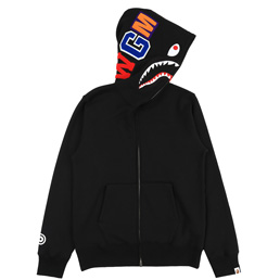 BAPE® Shark Full Zip Hoodie- Black