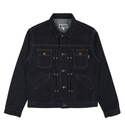 BAPE® Champion Denim Jacket- Indigo