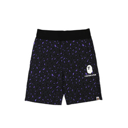 BAPE® Leopard Shorts- Black