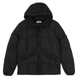 Stone Island Real Down Jacket Black