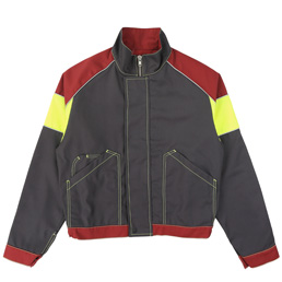 Affix Tri-Colour Work Jacket - Grey/Burgundy
