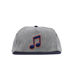 Bianca Chandon Music Hat- Navy Stripe