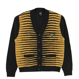 Brain Dead Brain Eyes Cardigan- Black
