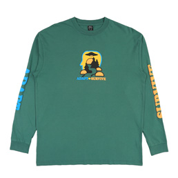 Brain Dead Adapt/Survive L/S T-Shirt- Green