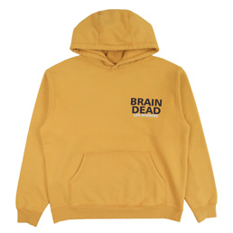 Brain Dead Break Through Hooded Sweatshirt- Yellow