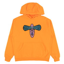 Brain Dead Bulging Emb. L/S Sweatshirt- Orange