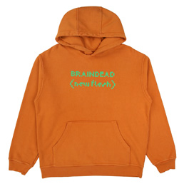 Braindead New Flash Hded Sweatshirt - Orange