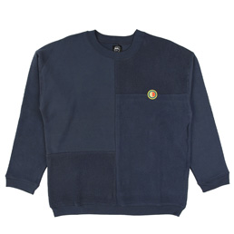 Braindead Global Works Split Panel Sweat - Navy