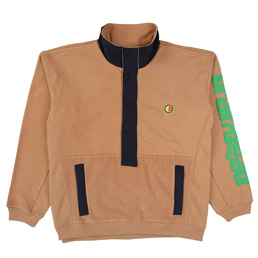 Braindead Global Works Snap Mock P/O - Brown