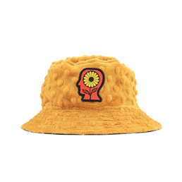 Brain Dead Embossed Fur Bucket Hat- Yellow