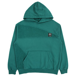 Brain Dead Logo Head Paneled Sweatshirt- Teal