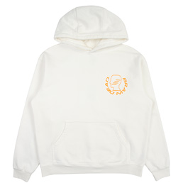 Brain Dead Folk Healing Hooded Sweat- White