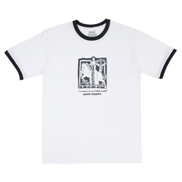 Book Works Lady Ringer T-Shirt- White