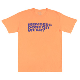 Book Works Members T-Shirt - Peach