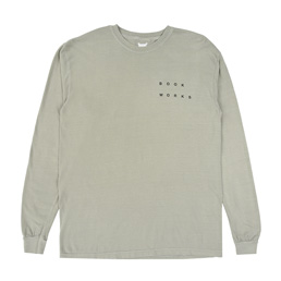 Book Works Signs LS T-shirt - Khaki