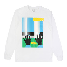Book Works Flag LS T-shirt - White
