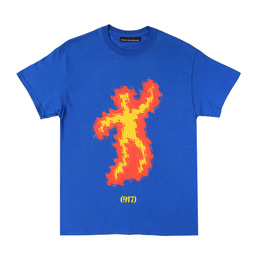 Call me 917 Scorched T-Shirt - Royal