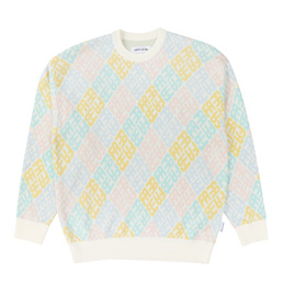 FA Monogram Sweater - White/Pink/Blue/Yellow/Teal