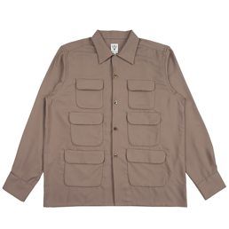 South2 West8 6 Pocket Classic Shirt- Taupe