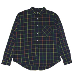 Noon Goons Sect Shirt Forest Plaid