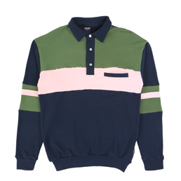 Noon Goons Summer Polo - Navy/Pink/Green