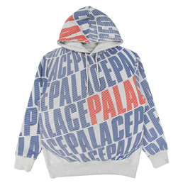 Palace Planet Hood - Grey Marl