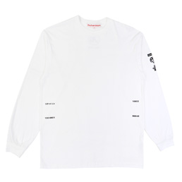 Richardson Logos L/S T-Shirt- White