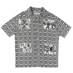 Richardson Aloha New York Shirt- Beige/Black