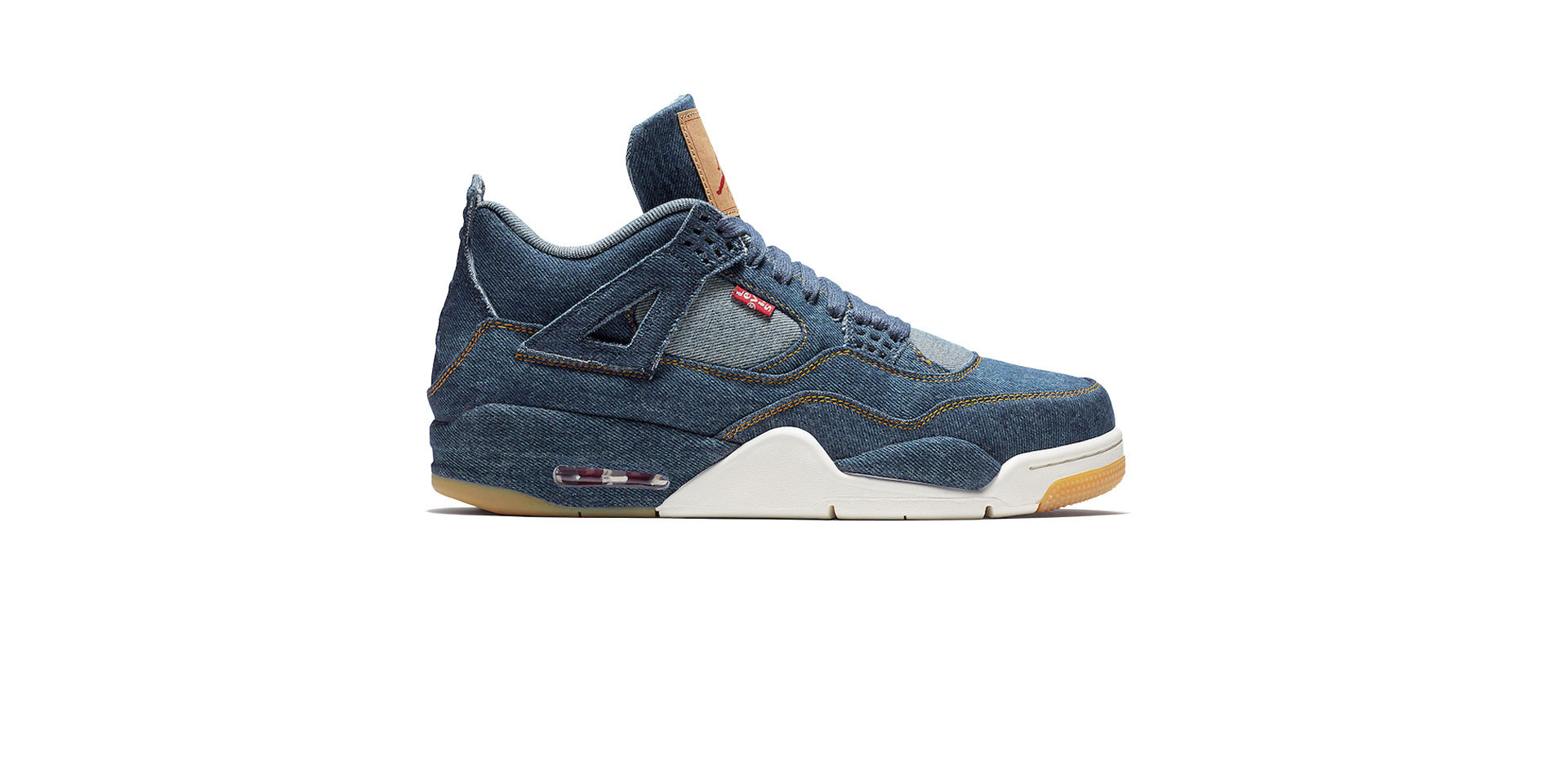 AIR JORDAN 4 RETRO X LEVIS NRG – DENIM/DENIM-SAIL-GAME RED