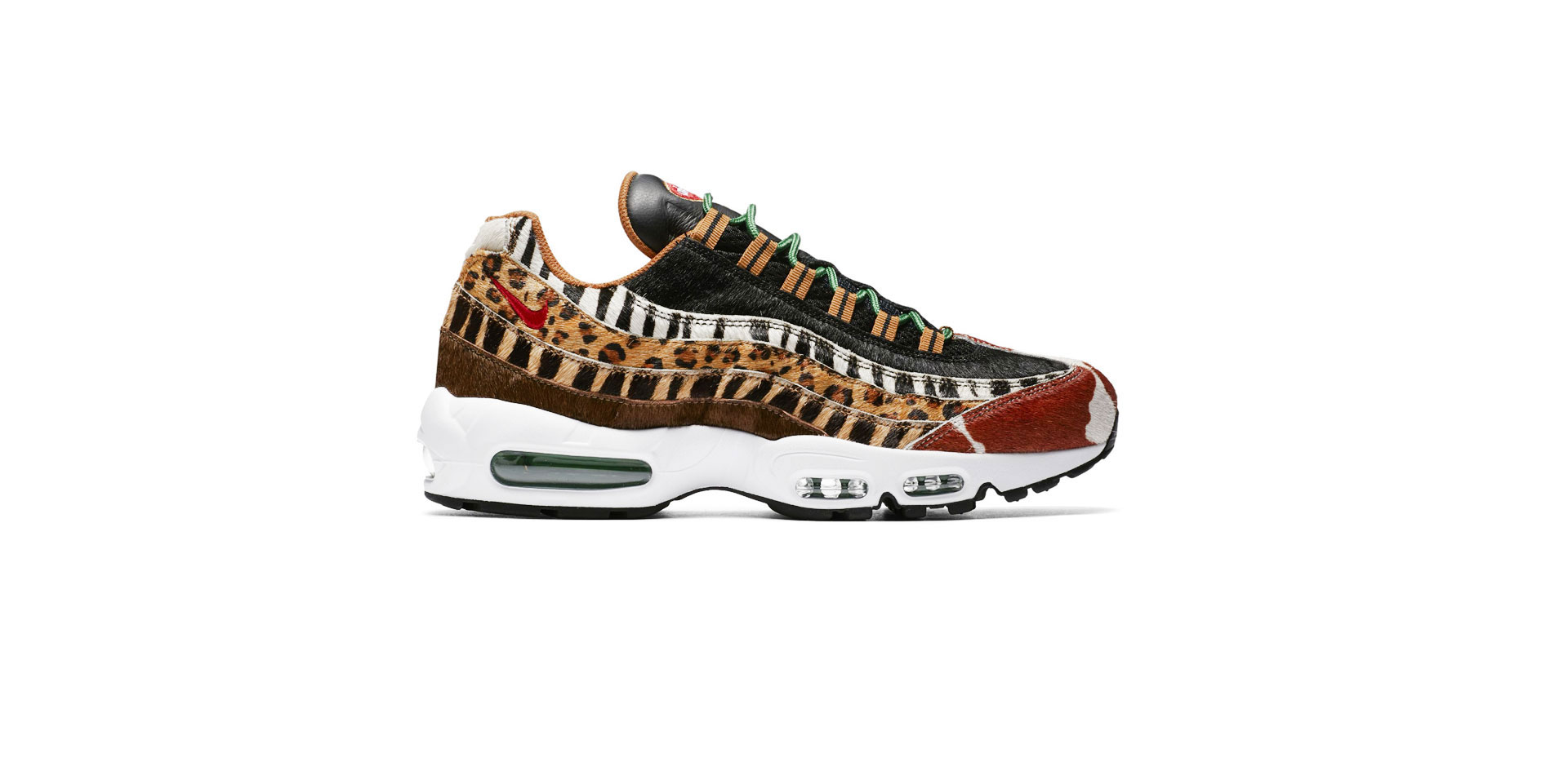NIKE AIR MAX 95 DLX - PONY/SPORT RED - BLACK - CLASSIC GREEN