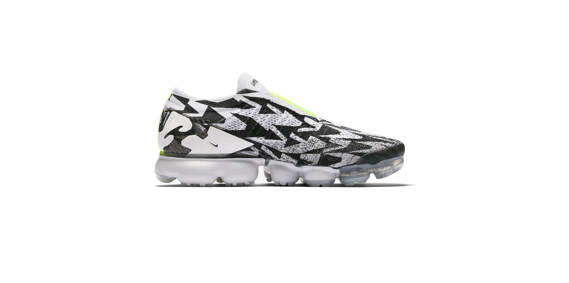 NIKE AIR VAPORMAX FK MOC 2 / ACRONYM - LIGHT BONE / VOLT-LIGHT BONE