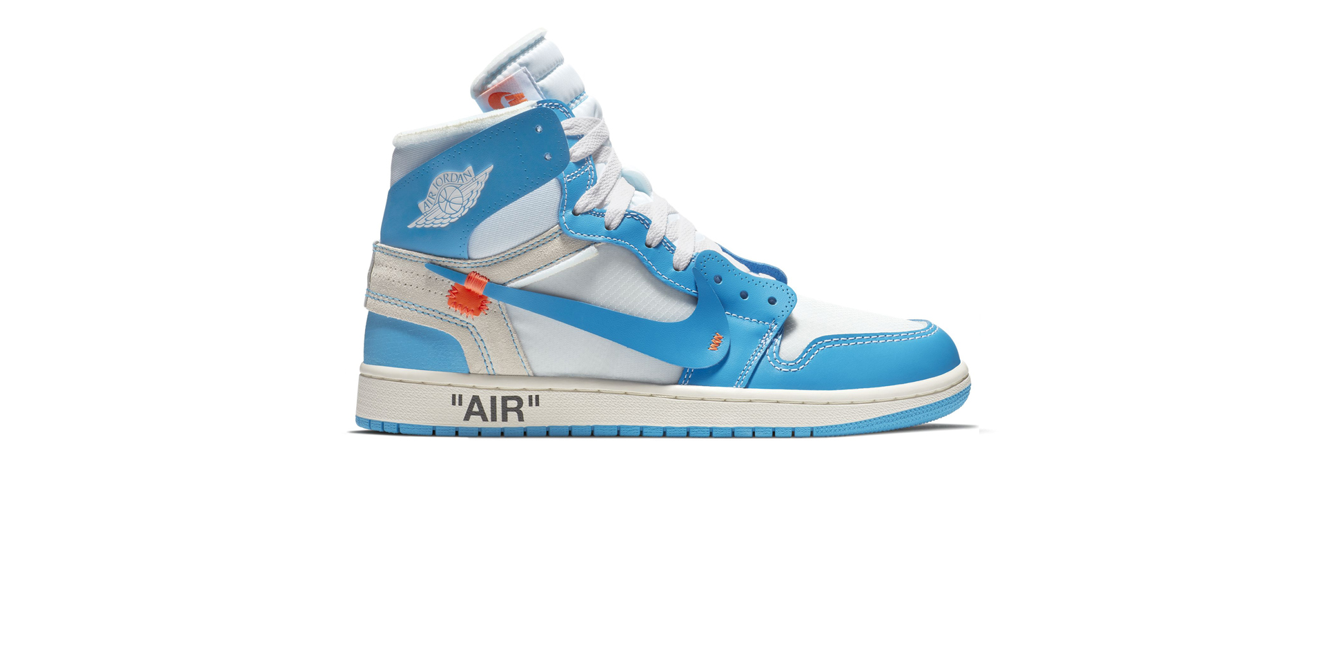 AIR JORDAN 1 X OFF-WHITE – WHITE/DK POWDER BLUE-CONE