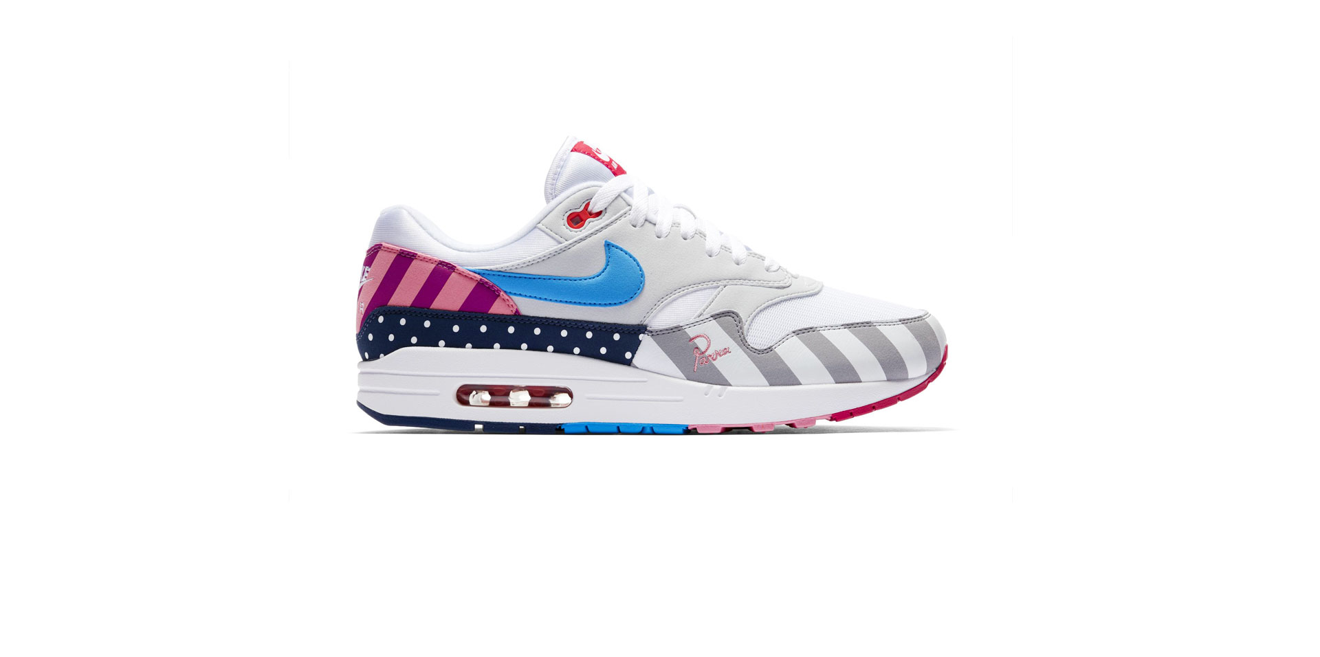 NIKE AIR MAX 1 X PARRA – WHITE/MULTI-COLOUR