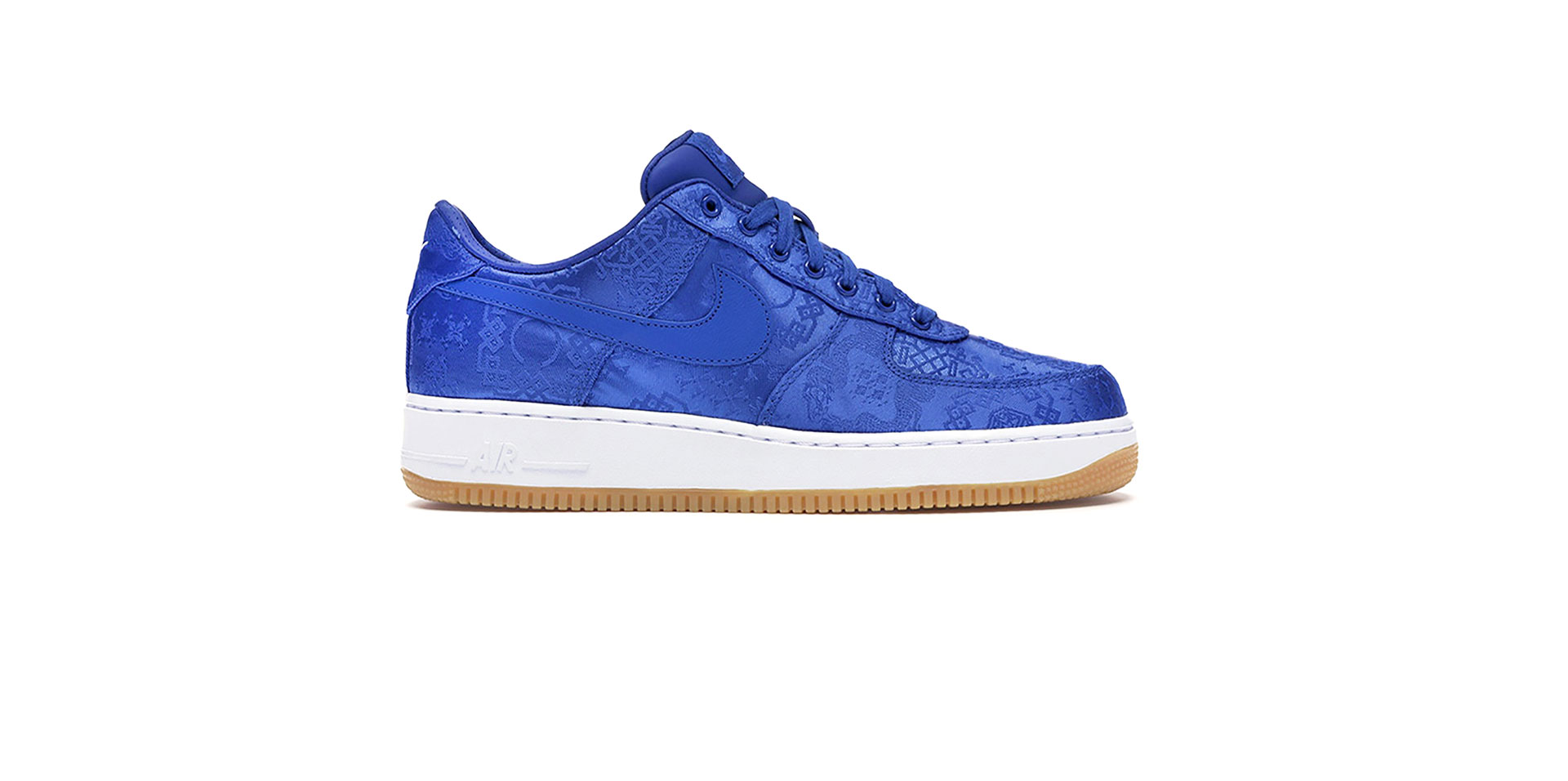 NIKE X CLOT AIR FORCE 1 PREMIUM - GAME ROYAL/WHITE-GUM LIGHT BROWN