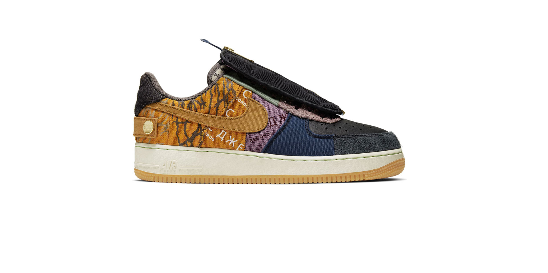 NIKE AIR FORCE 1 X CACTUS JACK - MULTI-COLOR/MUTED BRONZE-FOSSIL