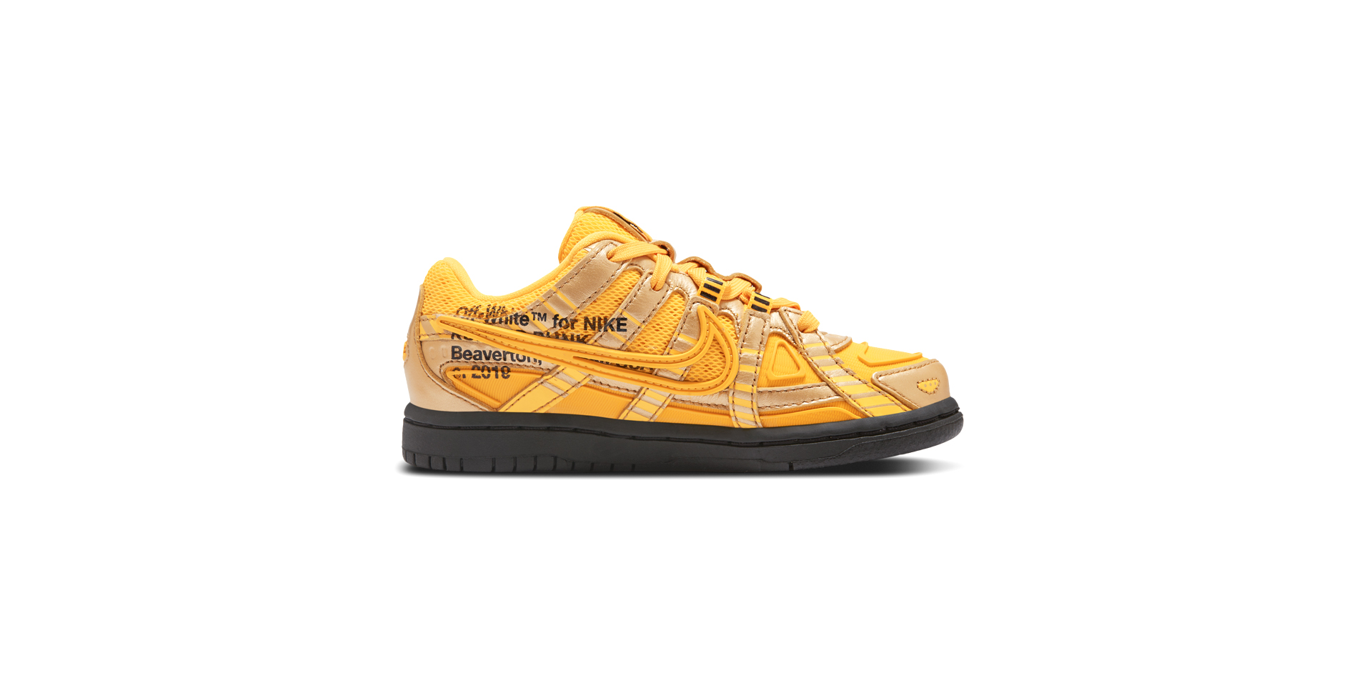 NIKE RUBBER DUNK X OFF-WHITE (PRIMARY SCHOOL) - UNI GOLD/BLK